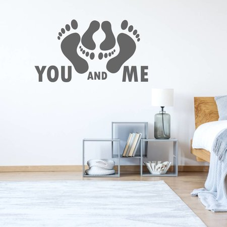 Muursticker you and me