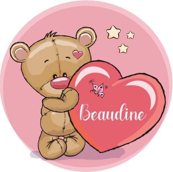 Muursticker Beaudine