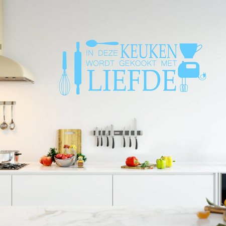 muursticker keuken liefde