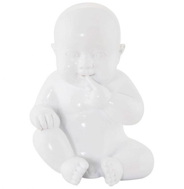 Beeldje zittende baby