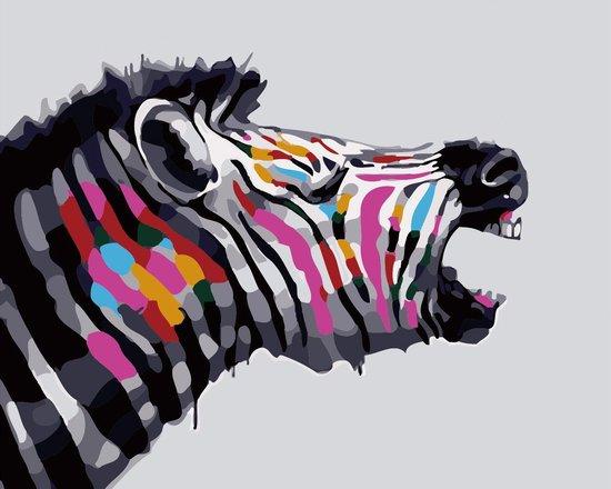 Schilderen op nummer Zebra