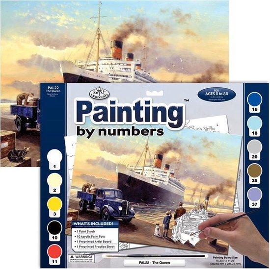 Schilderen op nummer cruiseschip