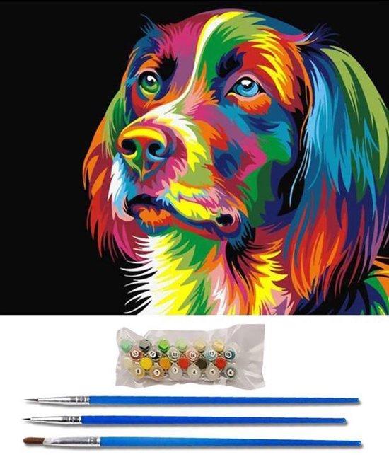 Schilderen op nummer hond